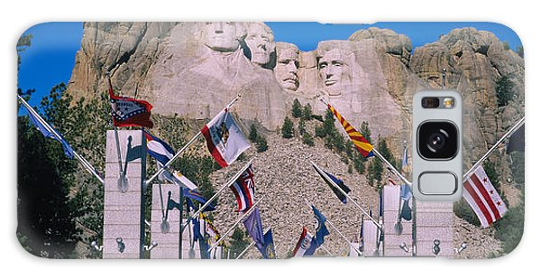 Statues On A Mountain, Mt Rushmore, Mt Galaxy Case by Panoramic Images