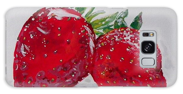 Stawberries Galaxy Case by Marisela Mungia