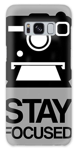 Camera Galaxy Case - Stay Focused Polaroid Camera Poster 1 by Naxart Studio