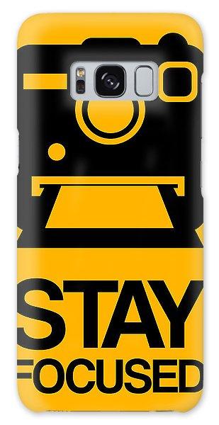 Camera Galaxy Case - Stay Focused Polaroid Camera Poster 2 by Naxart Studio
