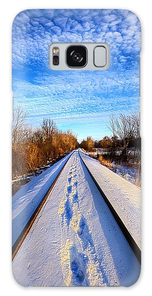 Staying Within The Lines Galaxy Case by Phil Koch