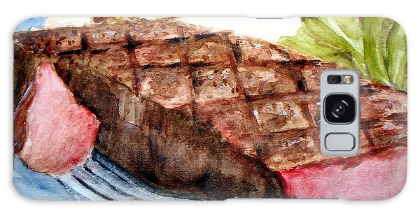 Steak Anyone Galaxy Case by Carol Grimes