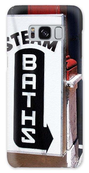 Steam Bath Sign Galaxy Case by Kae Cheatham