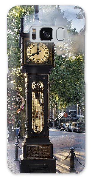 Steam Clock At Gastown Vancouver In The Morning Galaxy Case by Jit Lim