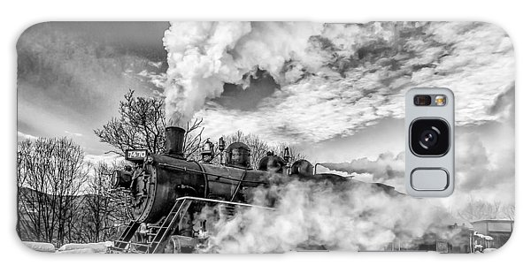Steam In The Snow Black And White Version Galaxy Case
