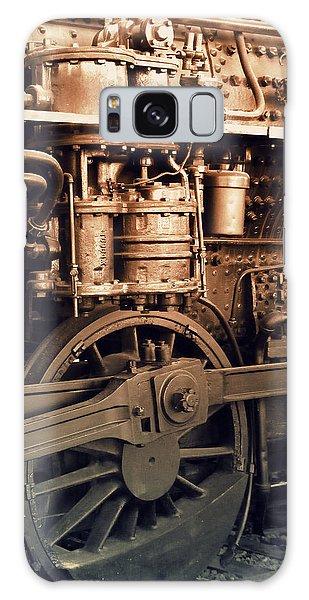 Steam Locomotive Train Detail Sepia Galaxy Case