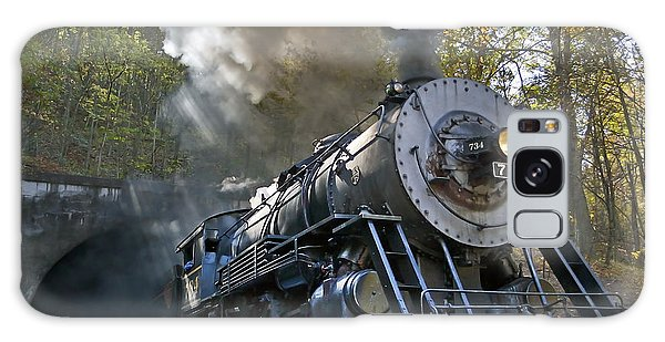 Steam Locomotive Train On The Western Maryland Scenic Railroad Galaxy Case