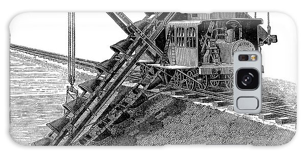 Excavator Galaxy Case - Steam-powered Excavator by Science Photo Library