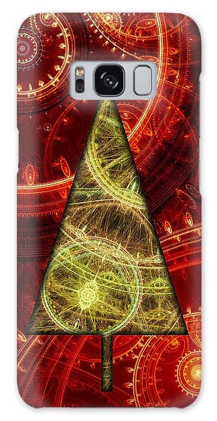 Steam Punk Christmas 1 Galaxy Case by Martin Capek