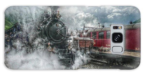 Steam Train Galaxy Case by Hanny Heim