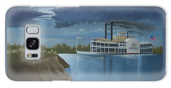Steamboat On The Mississippi Galaxy Case by Stuart Swartz