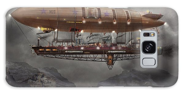 Steampunk - Blimp - Airship Maximus  Galaxy Case