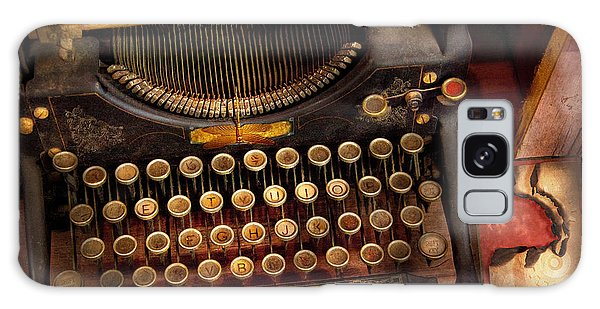 Steampunk - Just An Ordinary Typewriter  Galaxy Case