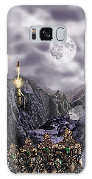 Steampunk Moon Invasion Galaxy Case