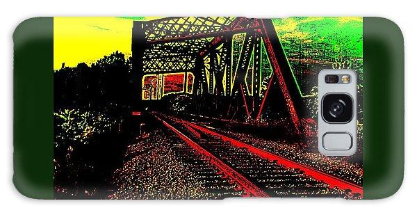 Steampunk Railroad Truss Bridge Galaxy Case by Peter Gumaer Ogden