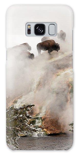Steamy Bison Galaxy Case by Sue Smith