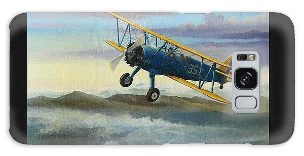 Airplane Galaxy Case - Stearman Biplane by Stuart Swartz