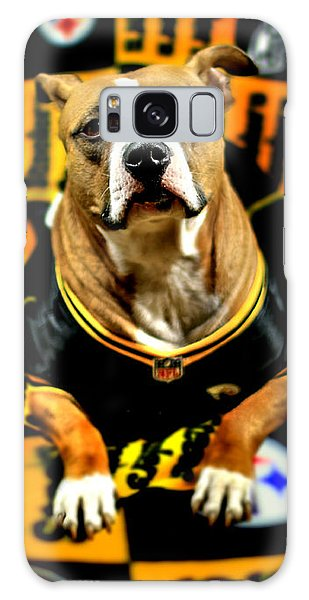 Pitbull Rescue Dog Football Fanatic Galaxy Case