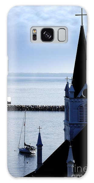 Steeple On Lake Huron Galaxy Case