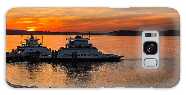 Steilacoom Ferry's At Sunsets Galaxy Case