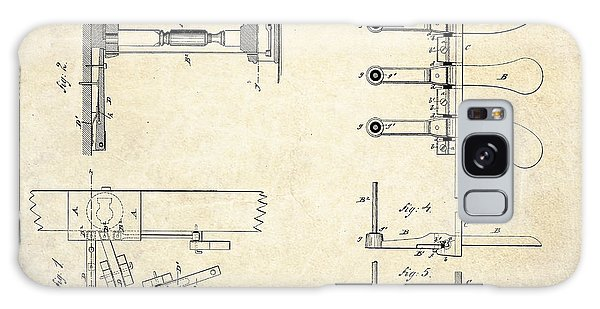 1885 Steinway Piano Pedal Patent Art Galaxy Case