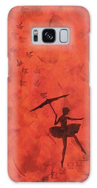 Stencil Ballerina Galaxy Case