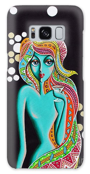Stephanie Groovy Chick Detail Galaxy Case by Joseph Sonday
