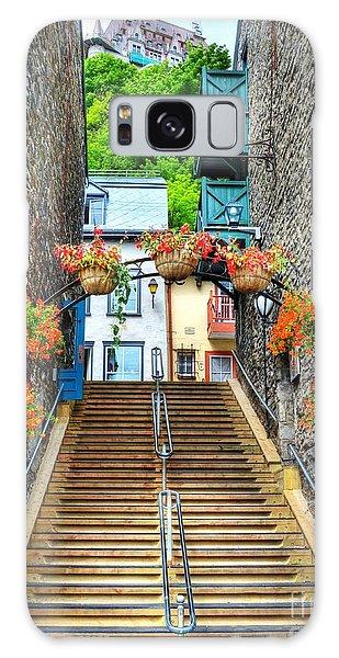 Quebec City Galaxy Case - Steps Of Old Quebec by Mel Steinhauer