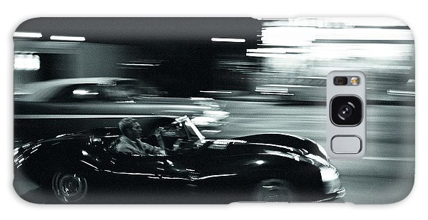 Steve Mcqueen Jaguar Xk-ss On Sunset Blvd Galaxy Case