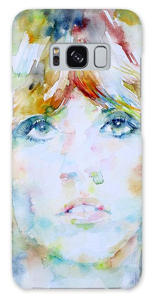 Stevie Nicks - Watercolor Portrait Galaxy Case by Fabrizio Cassetta