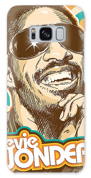 Rhythm And Blues Galaxy S8 Case - Stevie Wonder Pop Art by Jim Zahniser