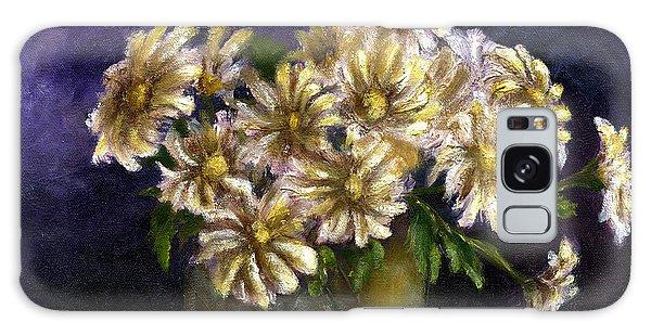 Still Life Art Diaisies In Purple  Galaxy Case