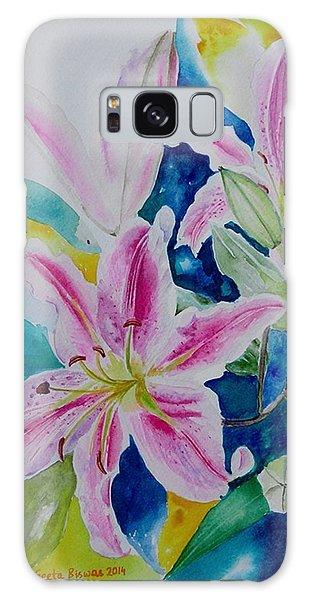 Still Life Lilies Galaxy Case by Geeta Biswas