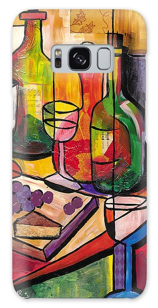 Still Life Of Fruit Wine And Cheese Galaxy Case