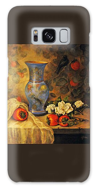Still Life Of Persimmons  Galaxy Case by Donna Tucker