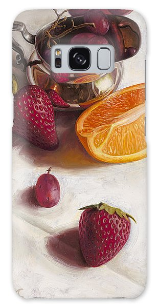 Strawberry Galaxy Case - Still Life Reflections by Ron Crabb