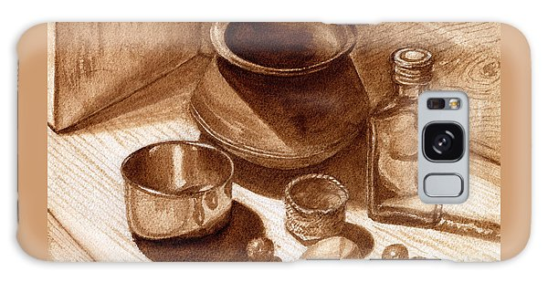 Still Life Walnut Ink Galaxy Case by Mukta Gupta