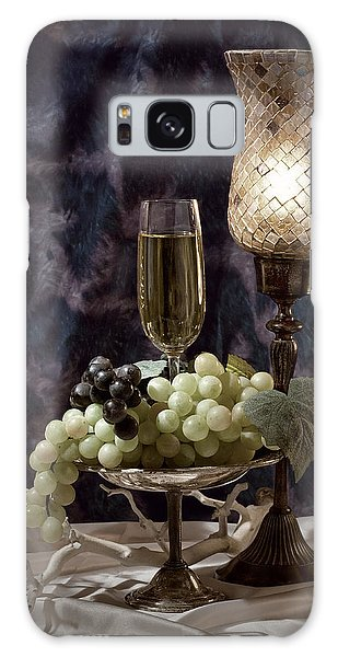 Glass Galaxy Case - Still Life Wine With Grapes by Tom Mc Nemar