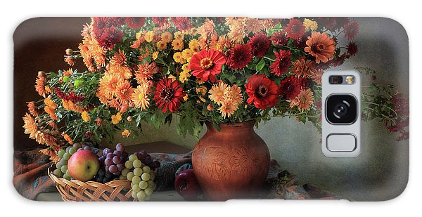 Basket Galaxy Case - Still Life With A Bouquet Of Chrysanthemums And Fruit by ??????????? ??????????