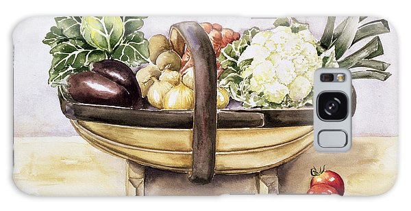 Still Life With A Trug Of Vegetables Galaxy Case by Alison Cooper