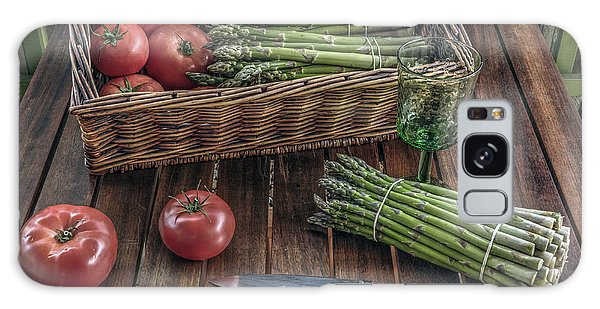 Still Life With Asparagus And Tomatoes Galaxy Case