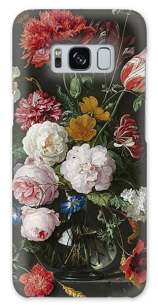 Still Life With Flowers In Glass Vase Galaxy Case