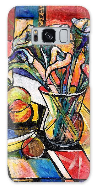 Still Life With Fruit And Calla Lilies Galaxy Case