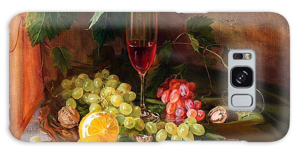 Still Life With Grapes And Grapevine Galaxy Case