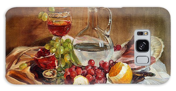 Still Life With Meat And Wine Galaxy Case