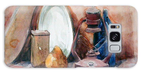Watercolor Still Life With Miners Lamp Galaxy Case