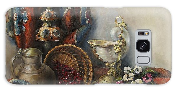 Still-life With Pansies Galaxy Case