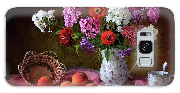 Basket Galaxy Case - Still Life With Summer Bouquet And Peaches by ??????????? ??????????