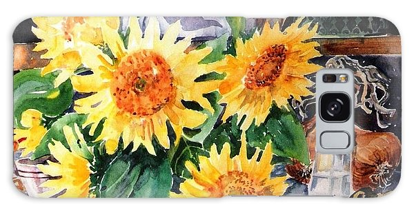 Still Life With Sunflowers  Galaxy Case by Trudi Doyle