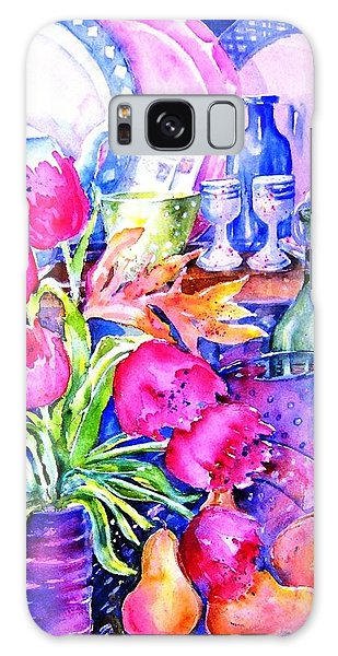 Still Life With Tulips  Galaxy Case by Trudi Doyle